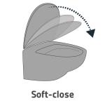 MERO 1690-130-103 WC sedátko SLIM, soft close, duroplast - bílá