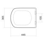 MERO 1690-000-510 WC sedátko, soft close, duroplast - bílá