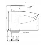 Umyvadlová stojánková baterie C10 05 00