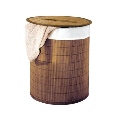 21005008 Koš na prádlo - světle hnědá bambus