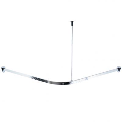 52000 Tyč pro sprchový závěs, rohová - leštěný hliník, 90 × 90 cm