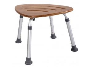A00502081 Stolička s nastavitelnou výškou, sedák bambus, nosnost 150 KG