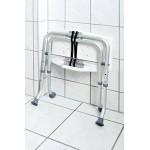 A0050301 Stolička skládací s nastavitelnou výškou, sedák bílý, nosnost 110 KG