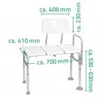 A0120101 Židle k vaně s opěradlem a nastavitelnou výškou