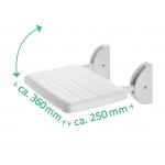 A041101 Sedačka do sprchy sklopná, nosnost 125 KG - bílá