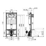 AM101 + M270 Sádromodul AlcaPLAST Kompletní instalační set