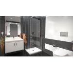 ALFA ROCKY 70 x 100 cm Clear Well Luxusní sprchová zástěna s mramorovou vaničkou