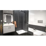 ALFA COMBI 100 x 80 cm Clear Well Luxusní obdélníková sprchová zástěna