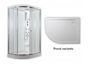 SIRIUS Arttec Masážní sprchový box model 5 chinchila pravá