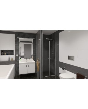 BETA 76 Grape Well Sprchové dveře do niky dvoukřídlé