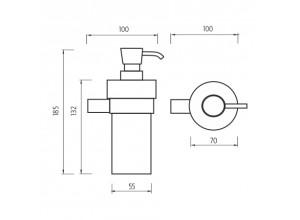 BORMO BR 11031W-26 Dávkovač tekutého mýdla