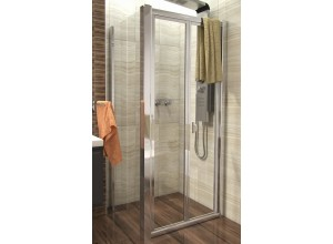 DELTA COMBI 80x70 Clear Well Sprchový kout se zalamovacími dveřmi