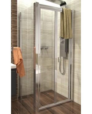 DELTA COMBI 100x80 Clear Well Sprchový kout se zalamovacími dveřmi