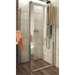 DELTA ROCKY 100x100 Clear Well Sprchový kout se zalamovacími dveřmi a mramorovou vaničkou