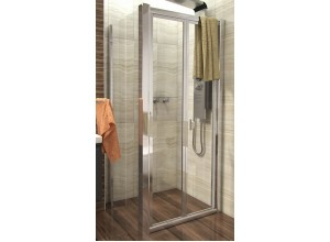 DELTA COMBI 80x100 Clear Well Sprchový kout se zalamovacími dveřmi
