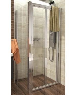 DELTA COMBI 80x80 Clear Well Sprchový kout se zalamovacími dveřmi