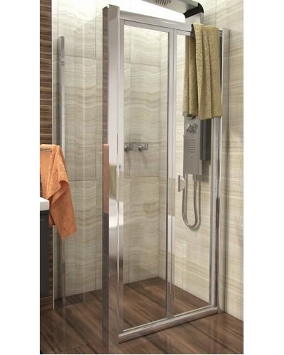 DELTA COMBI 110x100 Clear Well Sprchový kout se zalamovacími dveřmi
