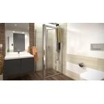 DELTA COMBI 110x90 Grape Well Sprchový kout se zalamovacími dveřmi