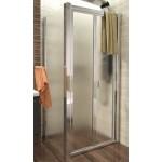 DELTA ROCKY 90x90 Grape Well Sprchový kout se zalamovacími dveřmi a mramorovou vaničkou