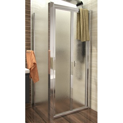 DELTA COMBI 90x90 Grape Well Sprchový kout se zalamovacími dveřmi