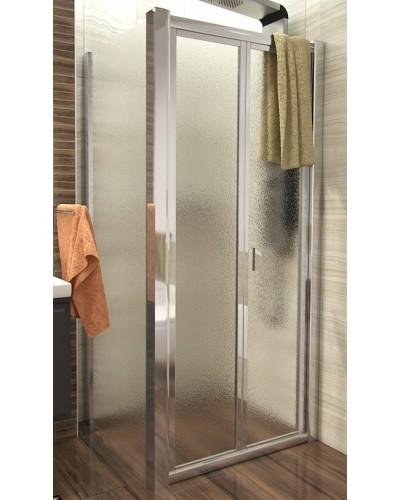 DELTA COMBI 110x100 Grape Well Sprchový kout se zalamovacími dveřmi