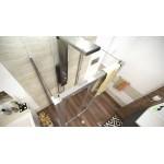 DELTA COMBI II 90x100x90 Clear Well Sprchový kout nástěnný