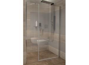 GAMA 110×190 cm čiré Well sprchové dveře do niky