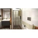 DELTA 100 Clear Well Sprchové dveře zalamovací