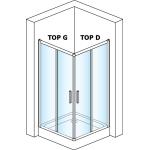 Levý díl sprchového koutu 80 cm TOPG 0800 01 44