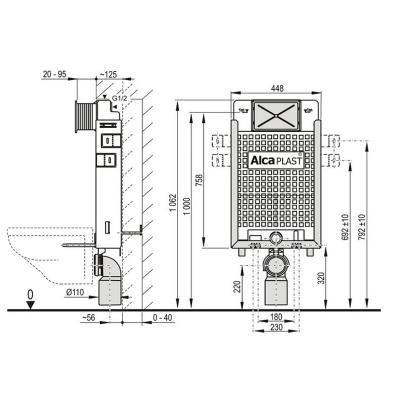 Instalační set AlcaPLAST A115+M70