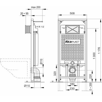 Instalační set AlcaPLAST A101+M70