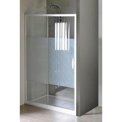 ETERNO GE6911 Gelco Sprchové dveře dvoudílné posuvné - sklo Strip, š. 110 cm, v. 190 cm
