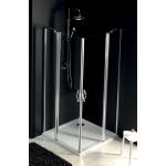 Díl sprchového koutu dvoudílný otočný - sklo čiré ONE GO4812