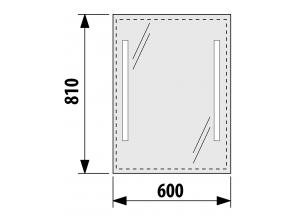 Zrcadlo s LED osvětlením 60×81cm 4.5572.5.173.144.1
