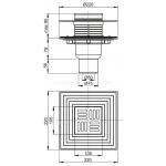 Podlahová vpusť přímá nerez 105×105/50/75 APV2324