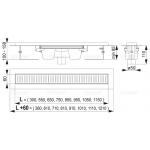 Liniový podlahový žlab s okrajem APZ1001-850