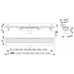 Liniový podlahový žlab FLEXIBLE LOW pod libovolný obklad APZ1104-850