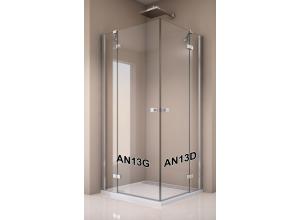 AN13 G 1200 50 07 SanSwiss Jednokřídlé dveře 120 cm s pev. stěnou v rovině, levé rozbalené