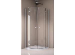 ANR55 0900 50 07 SanSwiss Sprchový kout čtvrtkruhový 90×90 cm s dvoukřídlými dveřmi