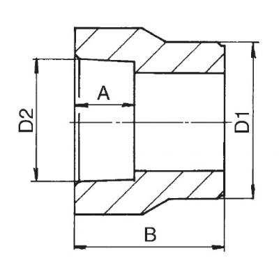 PPR Redukce vnitřní/vnější průměr110×75 210110075