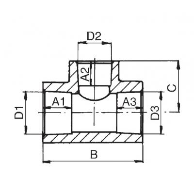 PPR T kus redukovaný průměr20×25×20 212020025