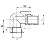 PPR Koleno s kovovým závitem vnějším 25×1/2˝ 216026