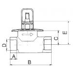 PPR Ventil LAGUNA s kovovou krytkou pr.20 313020