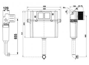 BASIC WC SYSTEM pro závěsné klozety (8.9365.2000.000.1) 8.9565.0.000.000.1