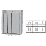 BLDP4-130 TRANSPARENT Ravak Sprchové dveře posuvné čtyřdílné 130 cm bright alu
