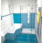 Sprchové dveře s boční stěnou NSKDVS 1/100-80 P SKLO