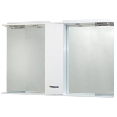 AC33/P L1L1 Eden Zrcadlo 120 s osvětlením a skříňkou, vypínač, zásuvka, pravá