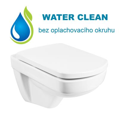 3012021-00-176A1 MERO WC mísa závěsná WATER CLAEN včetně sedátka, bez oplachovacího okruhu