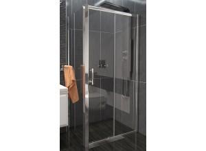 NICOL ROCKY 100x100 čiré Well sprchová zástěna čtvercová s mramorovou vaničkou