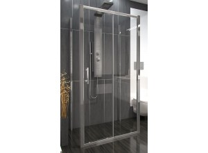 NICOL COMBI II 90x100x90 Clear Well Sprchový kout nástěnný